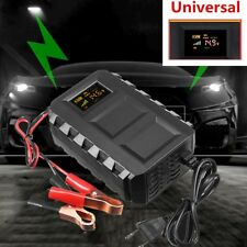 Auto Battery Lead Acid Battery Charger Car Motorcycle EU Plug Intelligent 12V