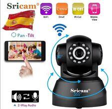 Sricam 720P IP Cámara CMOS Seguridad Inalámbrica WIFI IR Visión Nocturna Negro