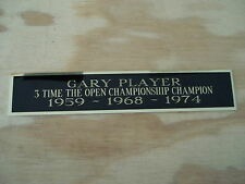 New listing Gary Player The Open 3X Champion Nameplate For Golf Flag Display Case 1.5 X 8