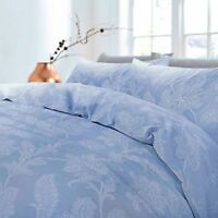 Floral Duvet Cover Bedding Set Single Double King Size Cosy Denim Fil-A-Fil Lace