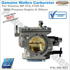 Walbro Carburetor Wb-37-1 Tohatsu Multi-Purpose Engines Mp 472, F100 Gc & Others