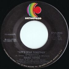 Isaac Hayes ORIG OZ 45 Let's stay together EX '72 R&B Funk soul Disco