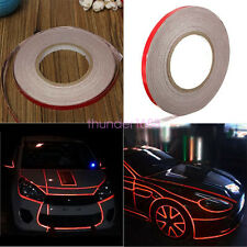 RED 1CM X 45M SAFETY FIRST! ROLL REFLECTIVE TAPE STRIPE FOR CARS/MOTORCYCLES