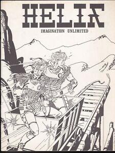 HELIX FANZINE 1 MAGAZINE COMICS 1971 MIKE ROBERTS DAN ADKINS ARAGONES STERANKO