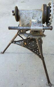 Ridgid 300 Pipe Threader Threading Machine w/ No. 1206 Tristand Working