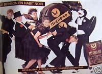 PUBLICITÉ DE PRESSE 1981 MICHOKO LE BONBON EN HABIT NOIR LA PIE QUI CHANTE