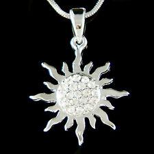w Swarovski Crystal Dainty Sunburst Sunshine Sun Goddess Energy Eco Necklace New