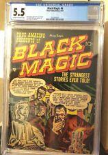 BLACK MAGIC # 6 PRE-CODE HORROR COMIC CGC 5.5 JACK KIRBY JOE SIMON MORT MESKIN