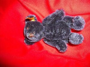 Vintage 4 inch tall German Steiff Blue Teddy Bear, Button in Ear