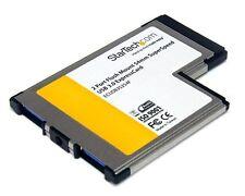 StarTech.com ECUSB3S254F 2-Port Flush Mount USB 3.0 ExpressCard Adaptor