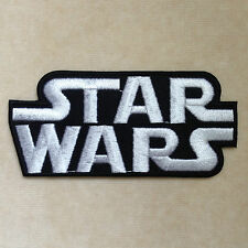 STARWARS STAR WARS LOGO EMBROIDERY IRON ON PATCH BADGE #BLACK WITH WHITE