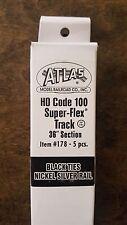 "Atlas Ho Code 100 Super-Flex Track 36"" Section, 5 pcs - Item # 178"