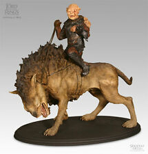 Sideshow Weta Gothmog On Warg Statue Figure Lord of the Rings LotR Hobbit Orc