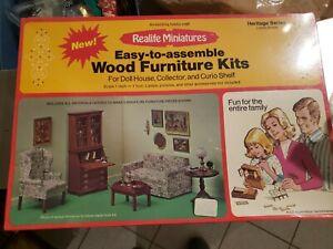 Realife Miniatures Living Room Furniture Kits Heritage Series New In Box Vintage
