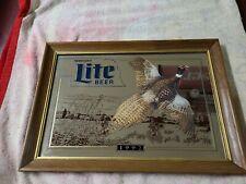 "Nebraska Lite Beer "" Pheasant "" Mirror 1992 Limited Edition #000128 Collectible"