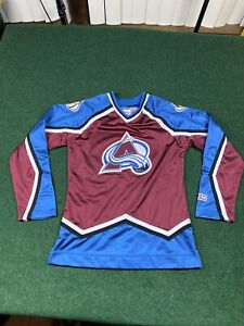 Vintage COLORADO AVALANCHE CCM Womens NHL For Her Hockey JERSEY M Sakic Roy