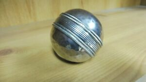 Silver Plated Cricket Ball Paperweight