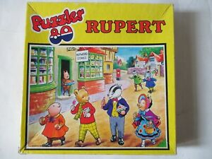Rupert the Bear collectable 80 Large Piece Jigsaw Puzzle Complete and Pre-Owned.