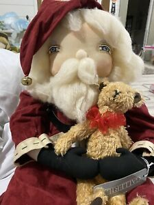 JOE SPENCER GATHERED TRADITIONS Freddy Santa DOLL Christmas NWT Retired