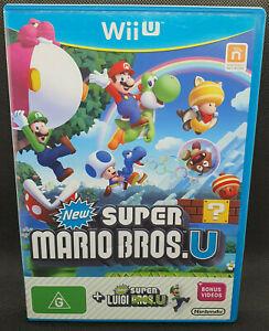 New Super Mario Bros U + Luigi U - Wii U - PAL 🎮 Nintendo