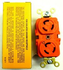 HUBBELL IG4710 RECEPTACLE ORANGE TWIST LOCK NYLON FACE 3P 3W 15a 125v 135N