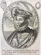 François II (1544-1560) Roi de France et d'Écosse Balthazar MONTCORNET XVIIe