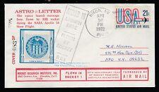 1972 US rocket mail RRI ASTRO-LETTER Apollo 16 - 163C1b