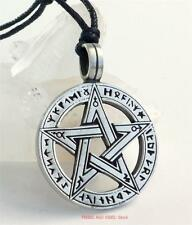 PENTACLE RUNES Pendant Necklace Pentagram pagan wicca druid Jewellery 30mm wide