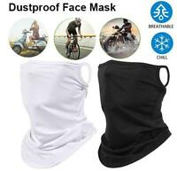 Breathable Motorcycle Neck Gaiter Cycling Sun Face Mask Ice Silk Scarf Bandana