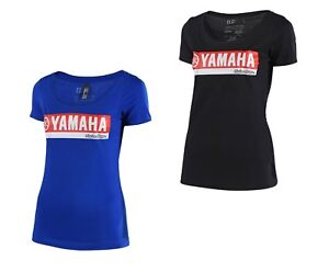 Troy Lee Designs TLD Team Licensed Yamaha RS2 Tee Womens T Shirt Black Blue