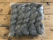 10 x 50g Hanks, 100% Wool, Twisted Yarn, BLACK, BROWN, GREY, 500g pack