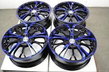 17 4x100 4x114.3 Blue Wheels Fits Accord Civic Corolla Tiburon Miata 4 Lug Rims