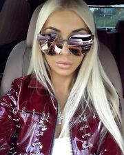 BARBIE Pink Princess Metal Cat Eye Oversized Mirror Lens Women Sunglasses GAFAS