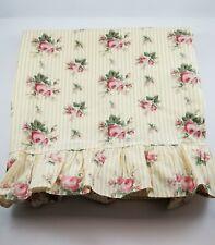Ralph Lauren Sophie Brooke Yellow Floral Twin Flat Cotton Sheet