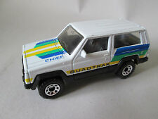 1986 Matchbox White Jeep Cherokee Chief Quadtrak Truck 1:58 Macau (Minty)