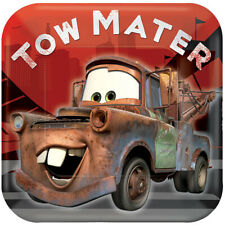 Disney's Cars Tow Mater Dessert PLATES BIRTHDAY PARTY supplies FREE SHIPPING