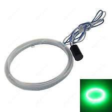 1x 120MM LED COB Chip SMD Car Angel Eyes Headlight Bright Halo Ring Light Green