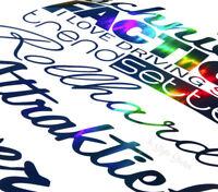 55cm Aufkleber Heckscheibe Tuning Sticker Autodekor Farbwechsel Motive Oilslick