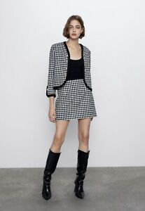 Zara Tweed Blazer Sold Out Bloggers Favourite Size L