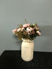 Painted Mason Jar Centerpiece will add beauty to any room!