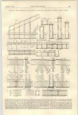 1900 Great Northern Railway Swing puente sobre el diagrama detallado de aire 2