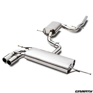 """2.5"""" STAINLESS CAT BACK SPORT EXHAUST SYSTEM FOR AUDI A3 8P 2.0 TDI 170BHP 08-13"""