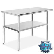 "Stainless Steel 24"" x 48"" Nsf Commercial Kitchen Work Food Prep Table"