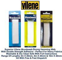 Wonderweb Wundaweb Extra Strong / Strong Hem Tape Iron On Fusible Fabric Meter