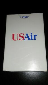 Vintage US Air AVIATION TRAVEL DECK OF Playing Cards RED WHITE BLUE AIRLINE FUN