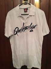 QUIKSILVER WHITE POLO SHIRT SIZE MEDIUM