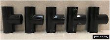 Confezione di 5 PIPE di overflow condensare 21.5mm Uguale Tee Nero CALDAIA A CONDENSAZIONE