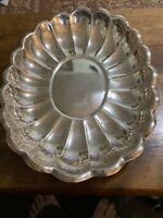 """REED & BARTON 110 HOLIDAY SILVERPLATED OVAL SERVING PLATTER BOWL, 15"""" X 11"""""""