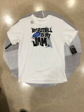 "Nike Dri-Fit Cotton T-Shirt Crewneck ""Basketball Is My Jam� Men's Xl White $25"