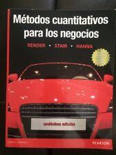 Metodos cuantitativos para los negocios Pearson Book Undecima edicion/11 edition